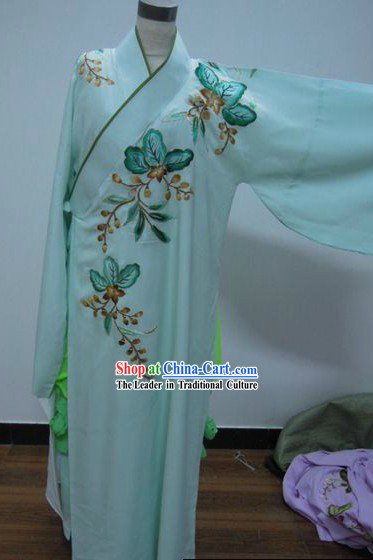 Ancient Chinese Embroidered Flower Long Robe for Men