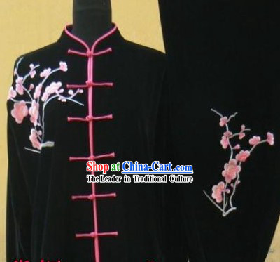 Traditional Chinese Velvet Tai Chi Competition Suit