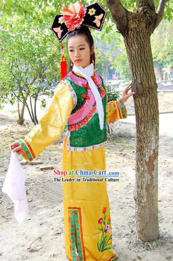 Huang Zhu Ge Ge Vicki Zhao Wei Qing Dynasty Imperial Palace Costume and Hat for Women