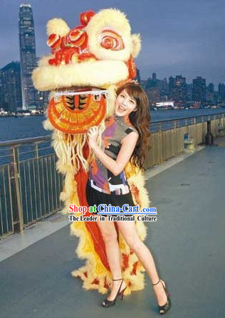 Classic HOK SAN Chinese Lion Dancing Costume Complete Set