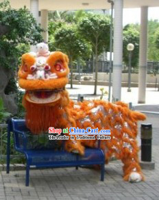 New York Orange Lion Dance Costumes Complete Set