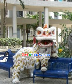 American White Wool Lion Dancing Costume Complete Set
