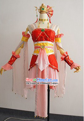 Ancient Chinese Beauty Cosplay Clothing and Accessories Complete Set