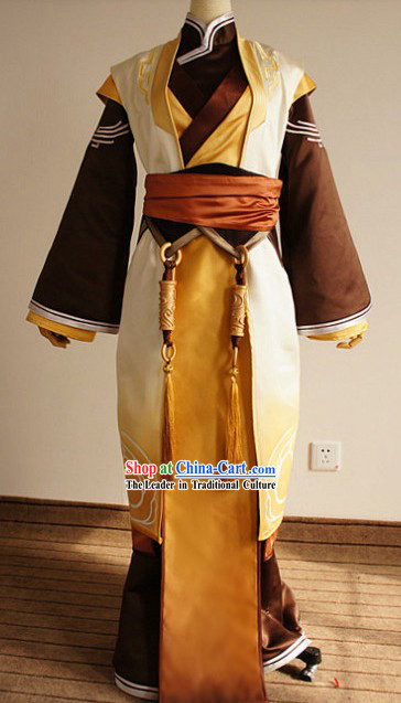 Ancient Chinese Gu Jian Qi Tan Ou Yang Shao Gong Cosplay Clothing Complete Set for Men