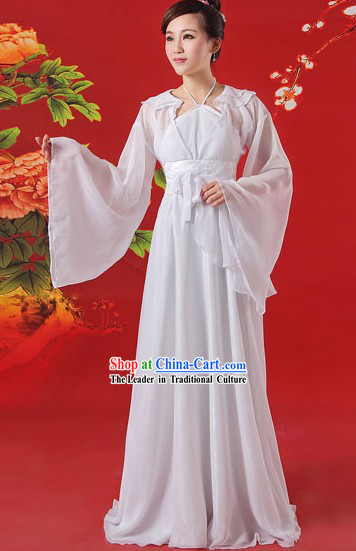 Ancient Chinese White Dragon Lady Xiao Long Nv Costumes