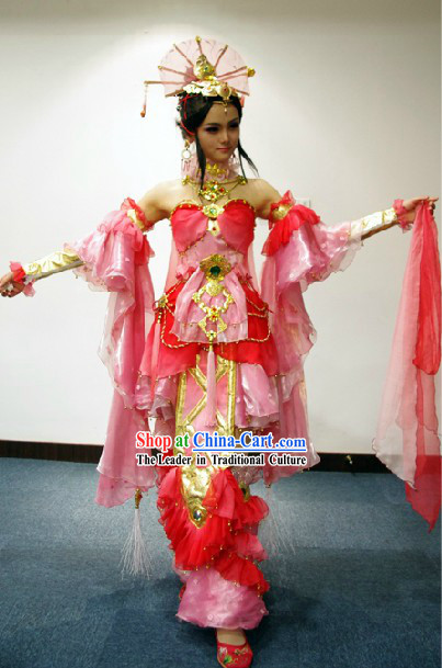 Ancient Chinese Princess Beauty Cosplay Costumes and Accessories Complete Set
