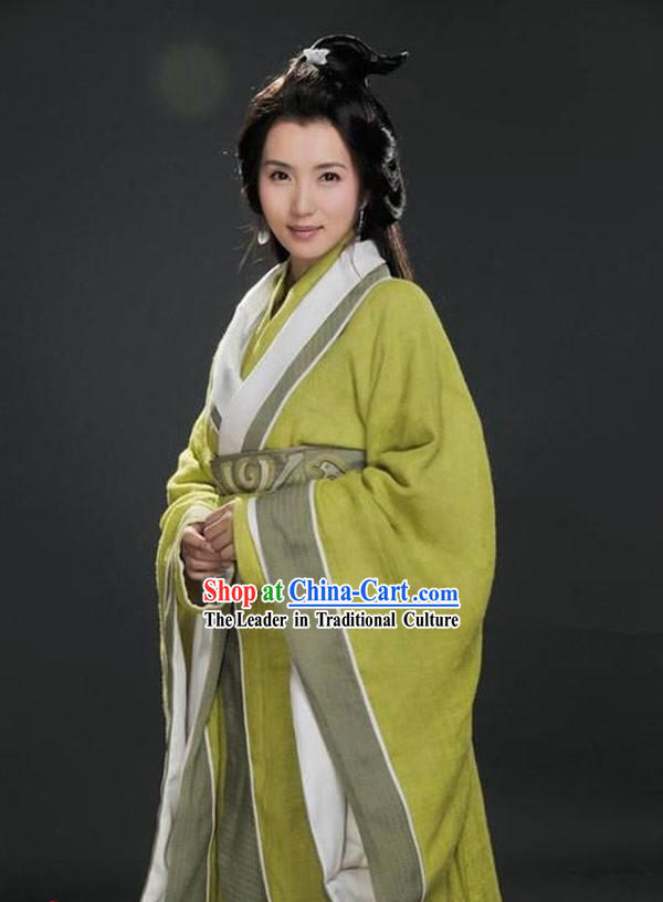 Three Kingdoms Diao Chan Costumes and Headpiece Complete Set