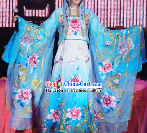Li Yugang Blue Empress Embroidery Clothing for Women