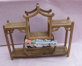 Traditional Chinese Natural Wood Handicraft Shelf