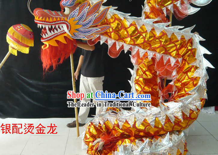 Shinning Competition and Parade Dragon Dance Costumes for Nine to Ten People
