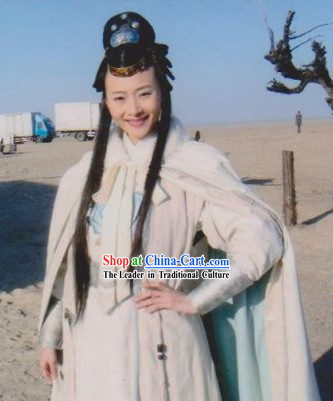 Ancient Chinese Swordswoman Costumes and Robe Complete Set for Women