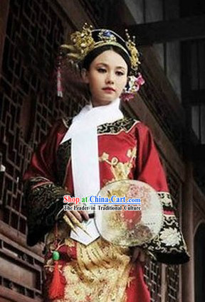 Empresses in the Palace Zhuan Huan Zhuan Empress Phoenix Robe and Hat Complete Set