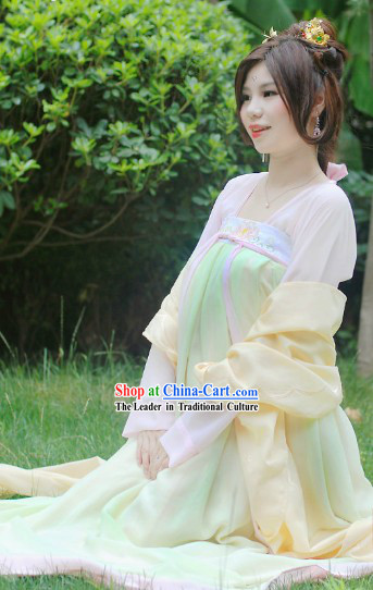Ancient Chinese Tang Dynasty Yang Guifei Teenager Clothes Complete Set