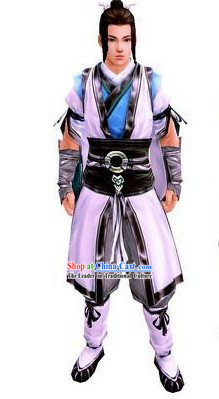 Ancient Chinese Taoist Disciple School Uniform Outfit for Men