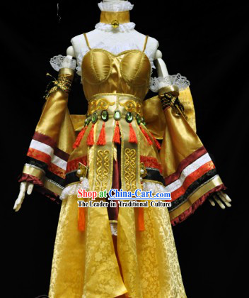 Traditional Ancient Chinese Lu Ding Ji Electronic Games Princess Costumes Complete Set