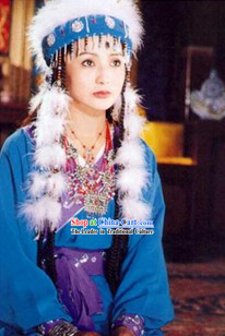 Fragrant Princess Xiangfei Dance Costumes and Hat