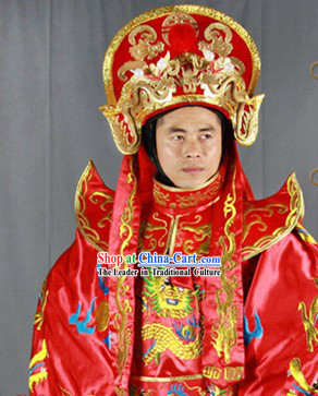 Chinese Sichuan Opera Bian Lian Mask Changing Costumes Pants Belt Hat and 12 Masks Complete Set