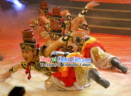 Traditional Chinese Xinjiang Ethnic Dance Costumes and Hat for Men