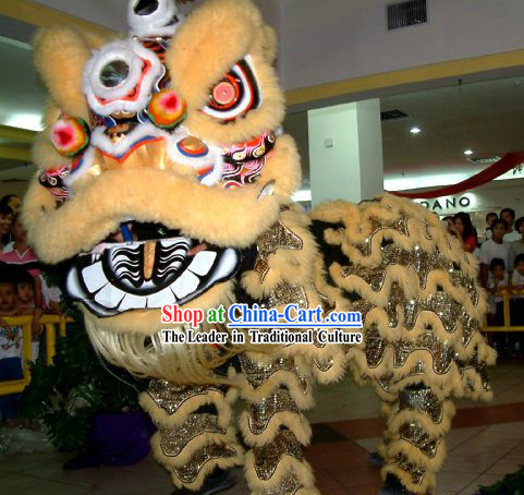 Professional Fut San Lion Dance Costumes Complete Set for Adults