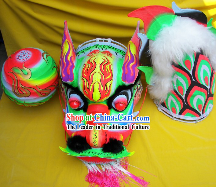 Glow in the Dark Southern Dragon Dance Equipment Complete Set