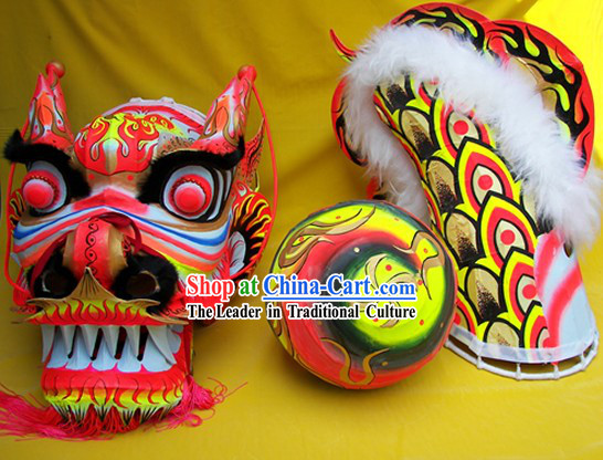 Illuminated Competition and Performance Dragon Dance Equipment Complete Set