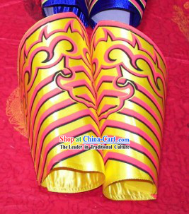 Gold Professional Competiton and Performance Dragon Dancer and Lion Dance Legs Wrappings