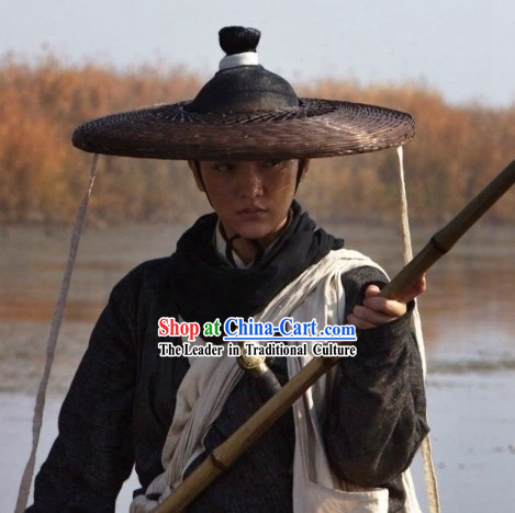 Ancient Chinese Warrior Swordsman Bamboo Hat