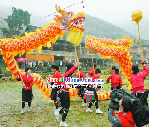 Free Delivery 18 Meters Chinese Festival Celebration Dragon Dance Costume Complete Set