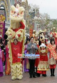 Happy Chinese New Year Parade Lion Dance Costume Complete Set
