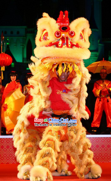 Good Fortune For All Lunar New Year Lion Dance Costume Complete Set