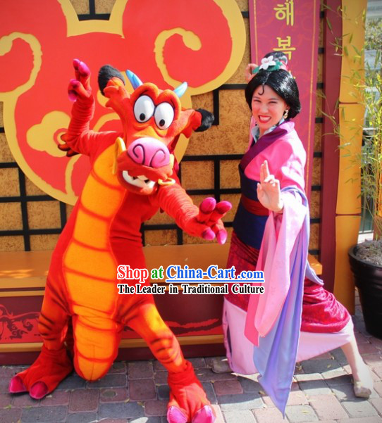 Lovely Happy Dragon Character Adult Size Mascot Costume Complete Set