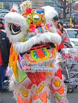 Rainbow Color Lion Dancing Head and Body Costumes Complete Set
