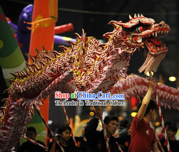 Professional Competition and Performance Ultraviolet Dragon Dance Costumes Complete Set