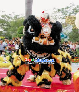Professional Performance and Competition Top Lion Dance Costumes Complete Set