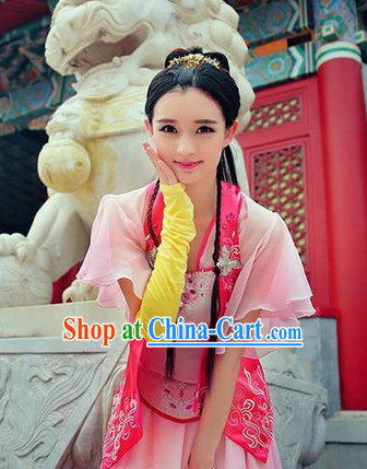 Chinese Swordwoman Costumes and Accessories Complete Set
