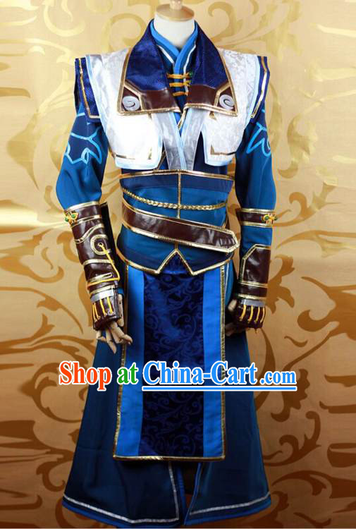 Ancient Chinese Swordsman Cosplay Costumes Complete Set