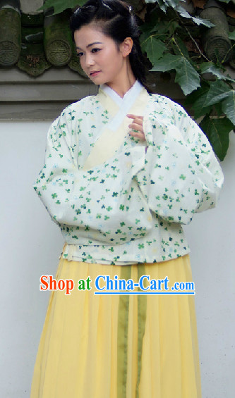 Ancient Chinese Ming Dynasty Garment Complete Set for Women