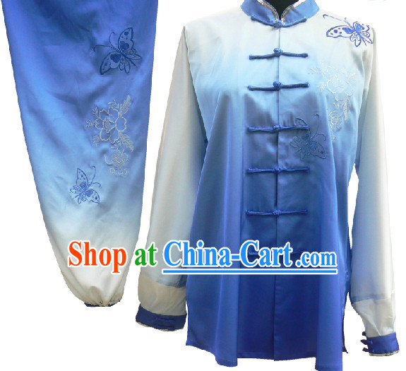 Color Change Butterfly Embroidery Tai Chi Martial Arts Dresses