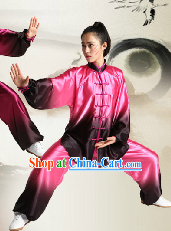 Color Transition Professional Tai Chi Competition Uniform Complete Set