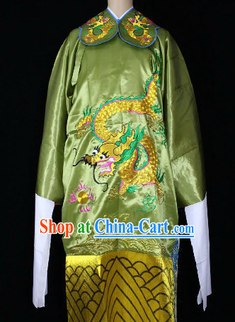 Chinese Ancient Long Sleeves Dragon Embroidery Robe for Men
