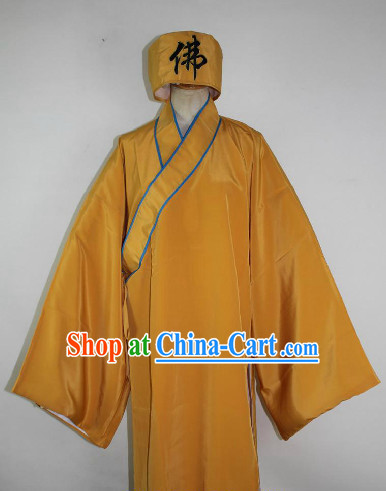 Chinese Ancient Nun Costumes and Hat Complete Set