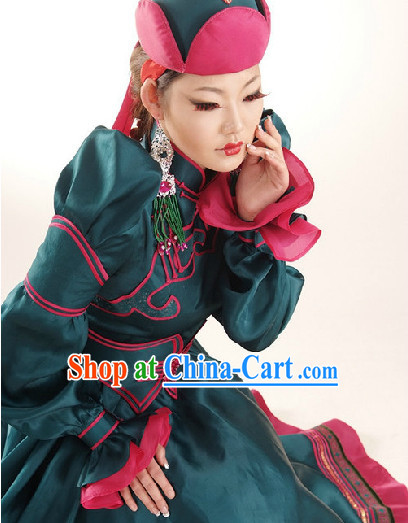 Mongolian Queen Garment and Hat Complete Set