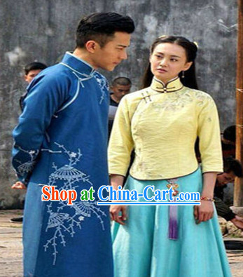 China Minguo Time Long Robe for Men