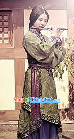 Han Dynasty Princess Clothing and Headdress Complete Set