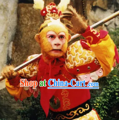 Monkey King Sun Wukong Armor Costumes and Helmet Complete Set