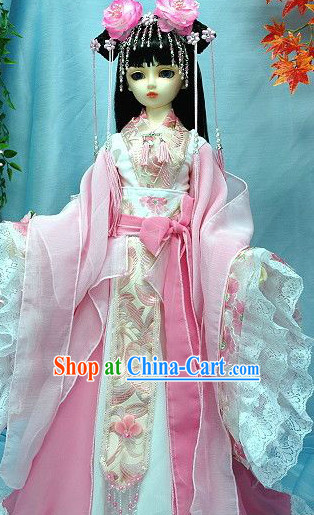 Pink Classical Fairy Costume and Headwear Complete Set