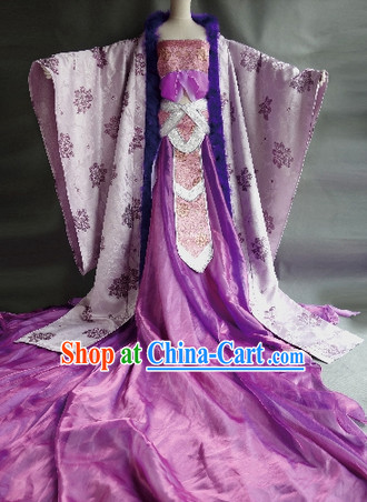 Traditional Princess Clothes for Ladies with Long Trail