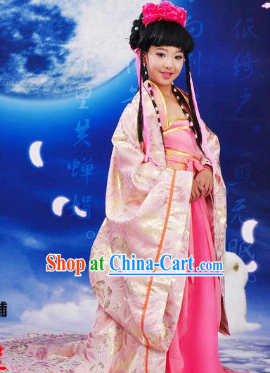 Ancient Chinese Tang Princess Costumes Complete Set for Kids
