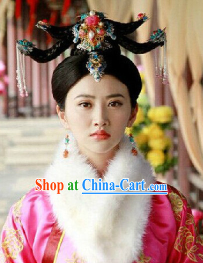 Ancient Chinese Palace Empress Wig and Headwear