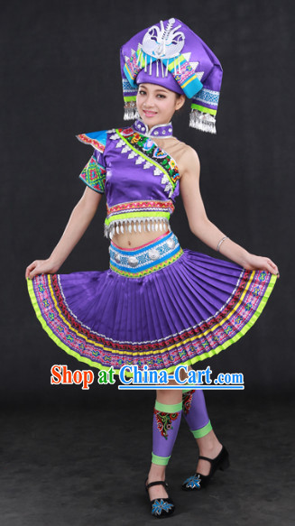 Guangxi Zhuang Minority Clothing Hat Complete Set
